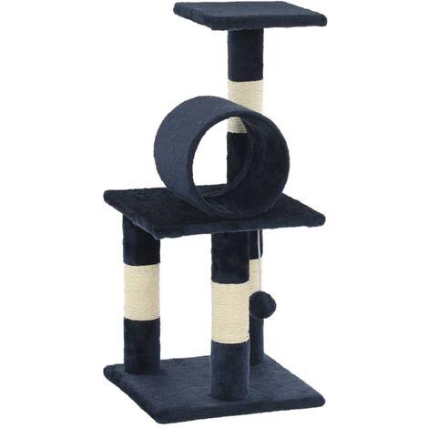 Arbre à chat avec griffoirs en sisal 65 cm Bleu foncé