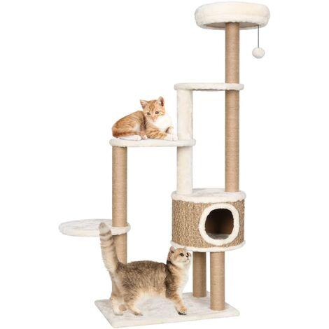 Arbre à chat coussin de luxe et grattoir 148 cm Herbiers marins