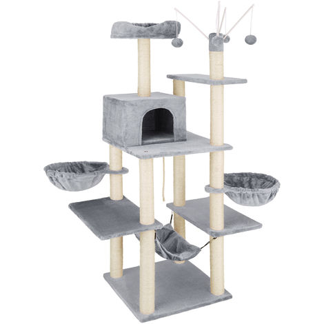 Arbre à chat LILOU 165 cm - griffoir, grattoir geant, cadre d´escalade pour chat