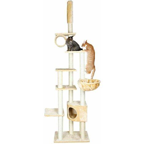 Arbre à chat madrid, du sol au plafond - 245-270 cm, beige