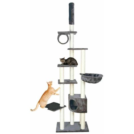 Arbre à chat madrid, du sol au plafond - 245-270 cm, gris platinium