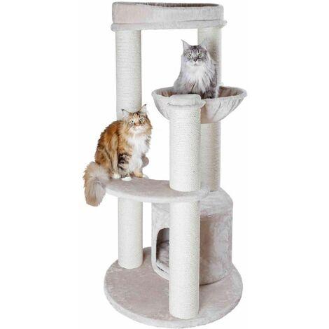 Arbre à chat XXL carlos - 159 cm, gris clair