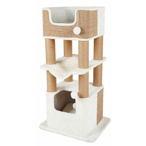 Arbre à chat XXL lucano - 110 cm, blanc/taupe