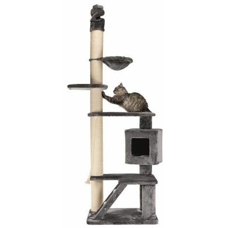 Arbre a chat XXL Tizian, du sol au plafond, 220-240 cm - Gris