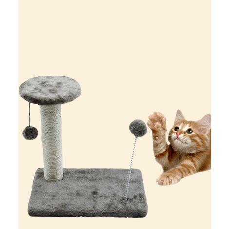 Arbre avec chaton 30 * 20 * 10cm (gris)