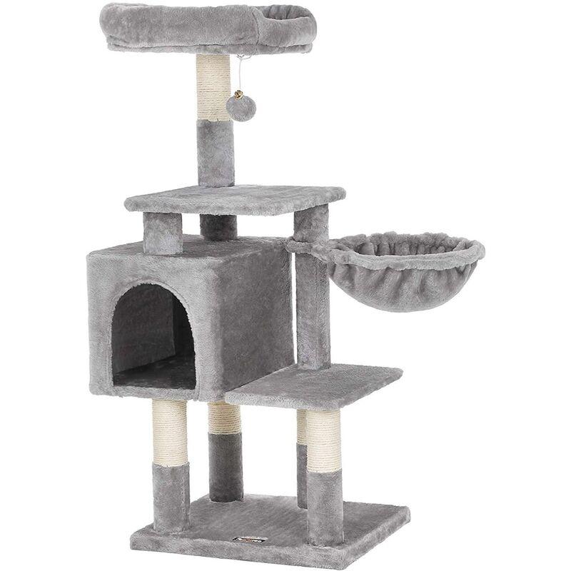 Arbre à chat 110 cm gris clair - Gris