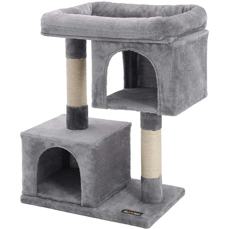 Arbre à chat 84 cm gris clair - Gris