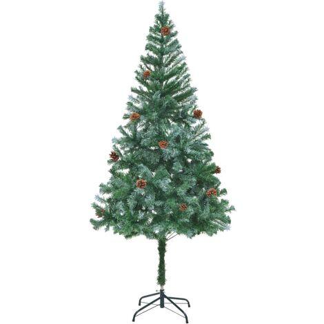 Arbre de Noël artificiel avec pommes de pin 180 cm