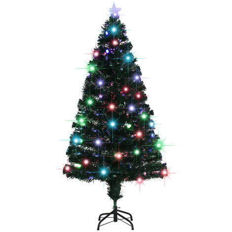 Arbre de Noël artificiel et support/LED 150 cm 170 branches