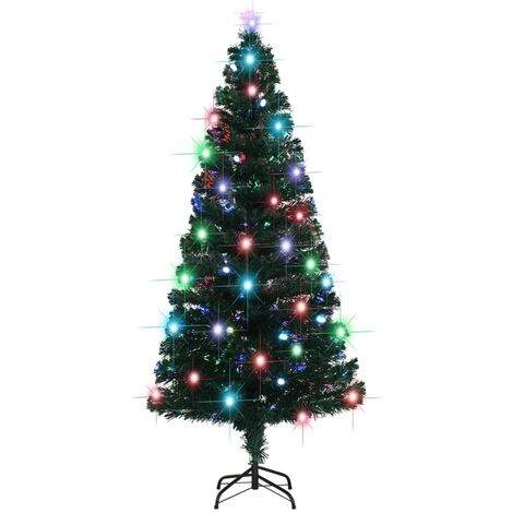 Arbre de Noël artificiel et support/LED 180 cm 220 branches