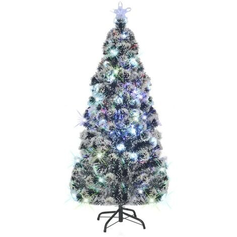 Arbre de Noël Artificiel et Support LED 180 cm 220 Branches Sapin Décor