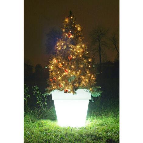 Arbre de noël avec des Pot lumineux Wimex LED RGB hauteur 140 cm 4504127