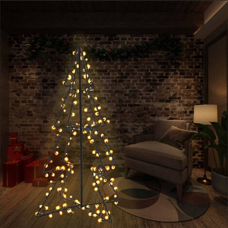 Arbre de Noël cône 160 LED d'intérieur/d'extérieur 78x120 cm
