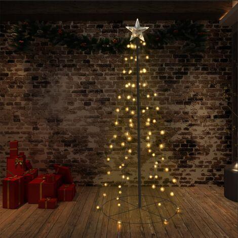 Arbre de Noël cône 96 LED d'intérieur/d'extérieur 72x180 cm