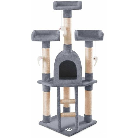 Arbre-Grattoir centre de jeu et repos pour chats de 116cm de hauteur
