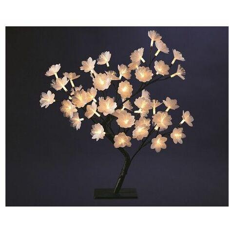 Arbre lumineux blanc chaud 50 cm - 48 LEDs - Décoration lumineuse - Livraison gratuite