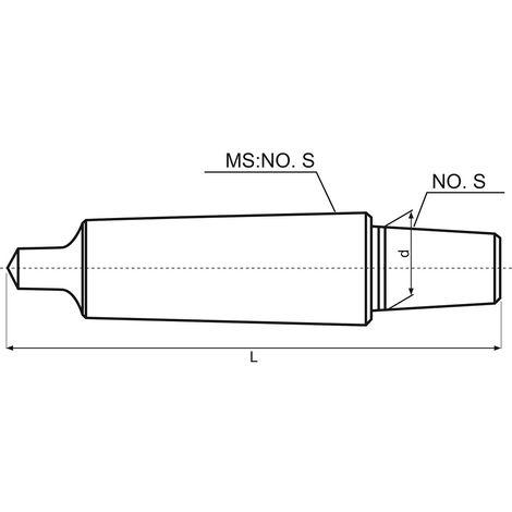 Arbre porte mandrin MK3 - B16