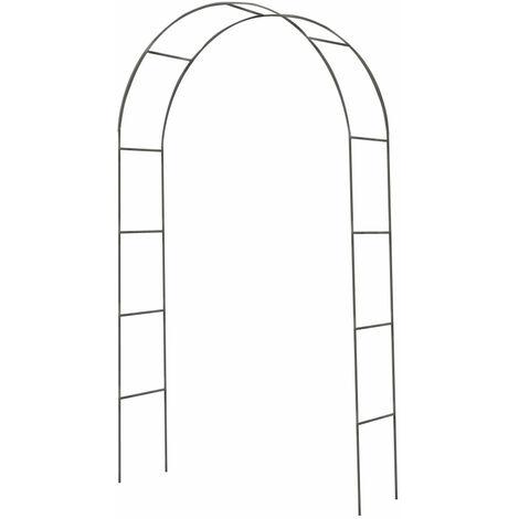 Arc rose en métal vert foncé, hauteur 240 cm