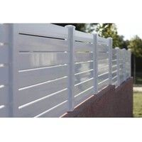 Arcachon - Clôture PVC - hauteur 0,77m - vendu au KIT (Lg 1.58m)