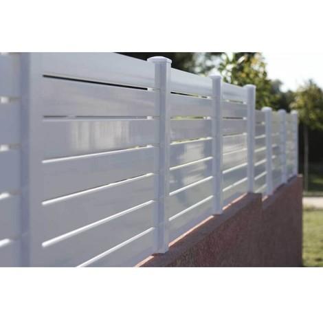 Arcachon - Clôture PVC - hauteur 1,21m - vendu au KIT (Lg 1.58m)