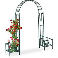 Arcade De Rosiers Pergola Plantes Grimpantes 2 Bacs Jardinière Hxlxp 226 X 204 X 45 Cm Vert