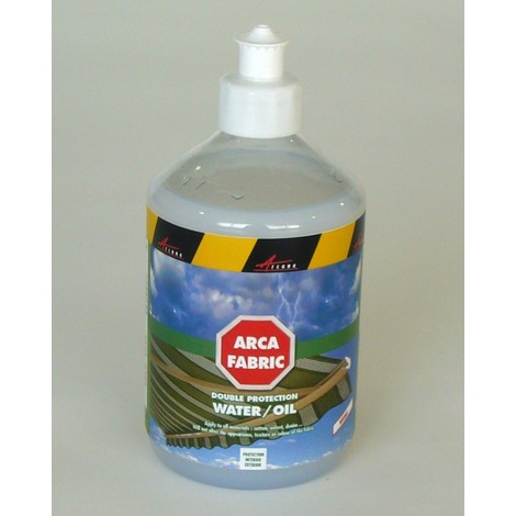 ARCAFABRIC - Water and oil stain protection for fabric and textiles - awnings, parasols, tents, rugs, carpet,tablecloths, tarps