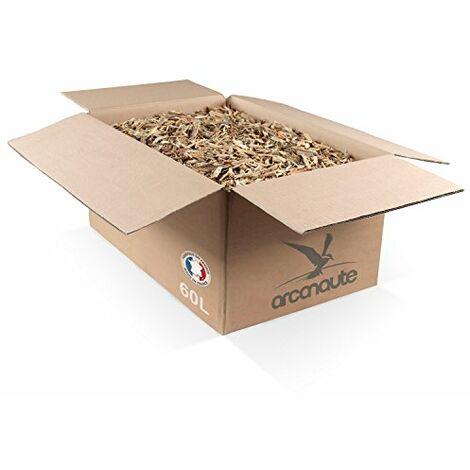 Arcanaute - Copeaux de bois et paillage - Copeaux de bois recycle pour paillage decoratif - Carton 60L