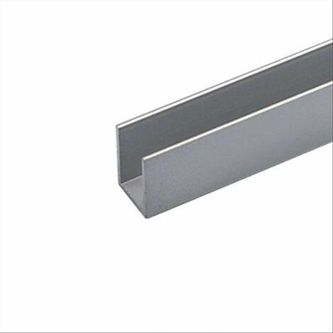 Arcansas profilo alluminio 8x8x1 argento