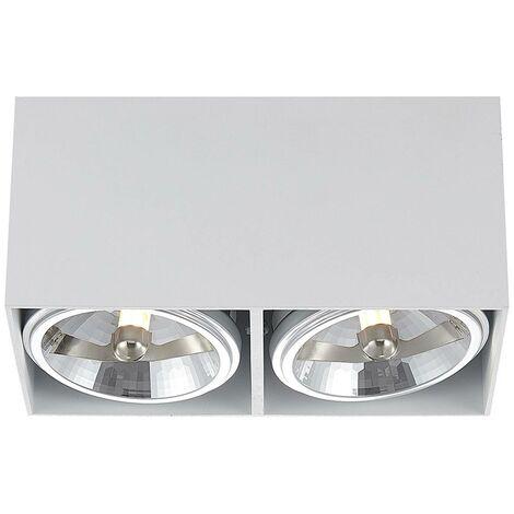 Arcchio Jarle lámpara de techo, dos luces blanco