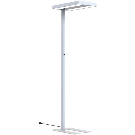 Arcchio Kalem lámpara pie oficina, angular, plata