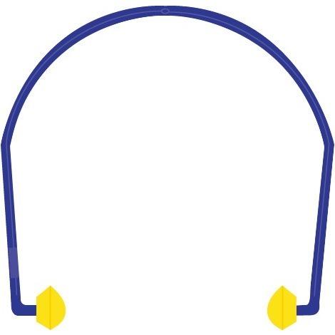 Arceau anti-bruit bouchons mousse de polyuréthane Outibat - Bleu et jaune - Jaune et bleu