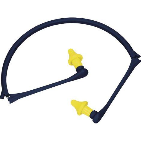 Arceau bleu Venitex bouchon d'oreilles avec sachet d'une paire de bouchon d'oreilles jaune.