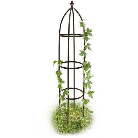 """main image of """"Relaxdays Obélisque de jardin support tuteur forme colonne pour plantes grimpantes 190 cm"""""""