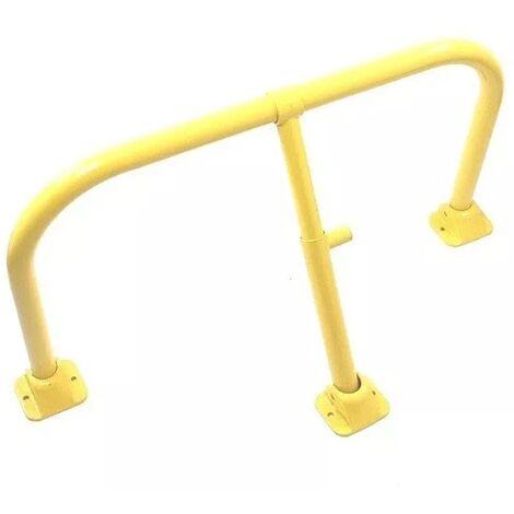 Arceau parking jaune intégral - arceau anti-stationnement avec serrure intégrée