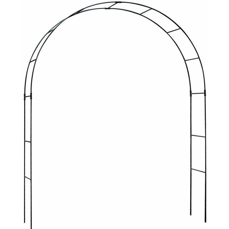 Harrod Horticultural - Arche de jardin 1m50 en acier galvanisé Vintage - Noir