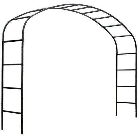 Arche de jardin 2m50 en acier galvanisé Ellipse - Noir