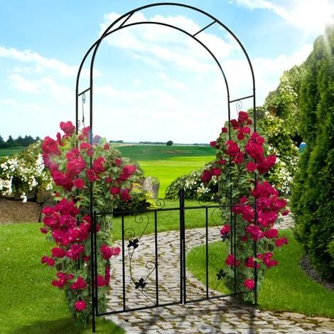 Arche De Jardin à Rosiers Avec Portillon 7904