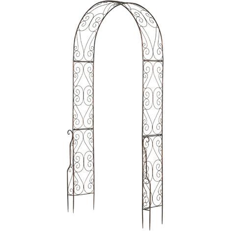 Arche De Jardin Arche à Rosiers Style Fer Forgé Dim 120l X 30l X