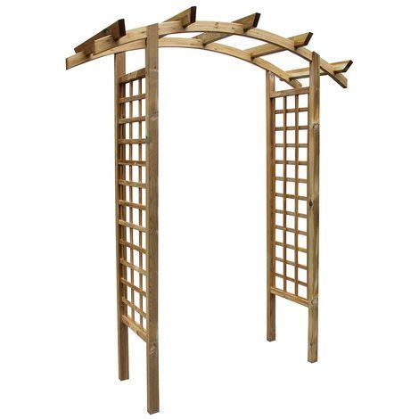 Arche de jardin en arc en bois traité, Primo