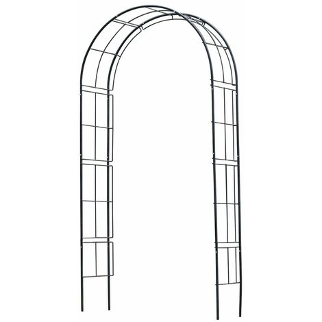 Arche de jardin en métal noir Nature 60408028331-A