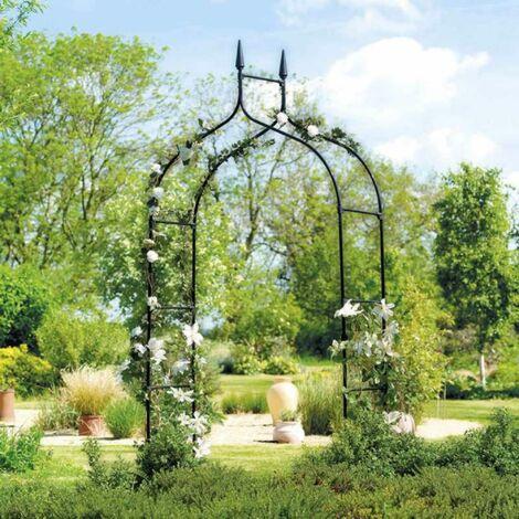 Arche de jardin gothique - Noir