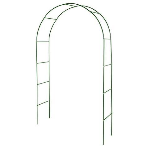 Arche de jardin métallique pour plantes grimpantes 140 cm vert foncé - vert foncé