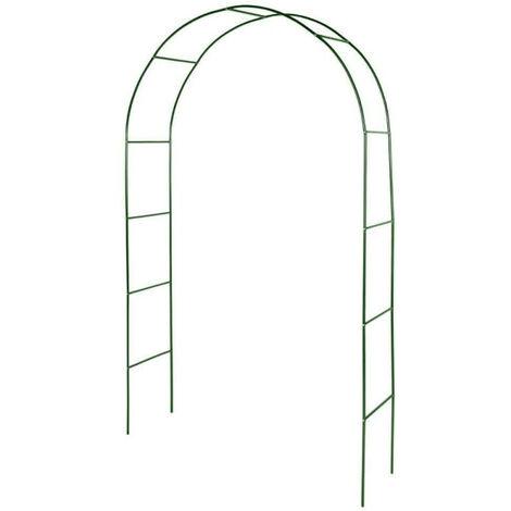 Arche de jardin métallique pour plantes grimpantes vert foncé