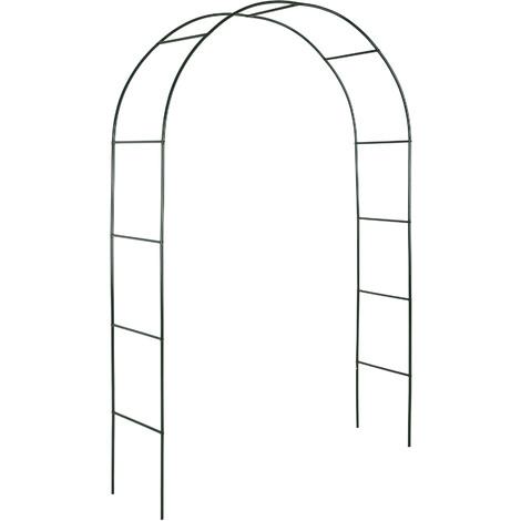 Arche de jardin pour Plantes Grimpantes et Rosiers - 240 x 140 cm - en Acier vert foncé