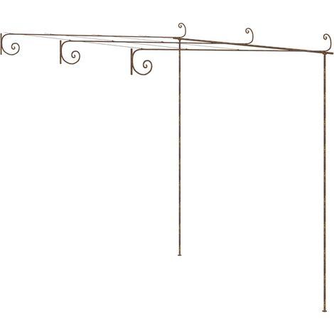 Arche de rosiers de jardin Marron antique 3x3x2,5 m Fer