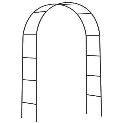 Arche déco en fer noir Atea - Noir