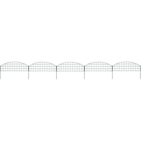 Arched Pond Fence Set 77.3x26 cm Green