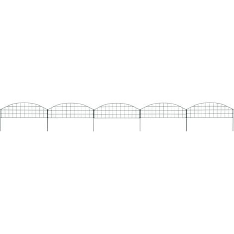 Arched Pond Fence Set 77.3x26 cm Green - Green