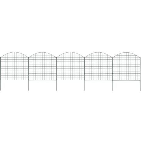 Arched Pond Fence Set 77.5x78.5 cm Green - Green