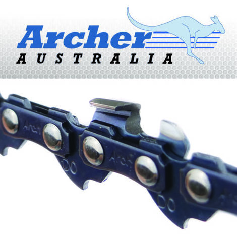 Archer Chainsaw Saw Chain 3/8LP .050 1.3mm 38 DL Drive Links, See Description For Applications
